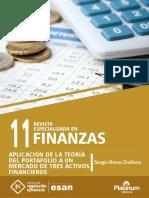 Aplicación de la teoría de Portafolio a un Mercado de tres Activos Financieros