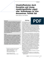 Schadstoffemission durch Desorption und Lösung standortspezifischer organischer Verbindungen im Schadenszentrum, Testfeld Süd