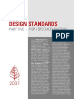 MEP + Specialty Systems Design Standards ( FOUR SEASONS )