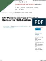 Sat Hacks Tips
