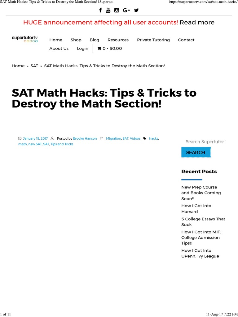 Sat Hacks Tips  Sat  Exponentiation