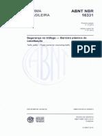 NBR 16331 - 2014 - Segurança No Tráfego - Barreira Plástica de Canalização