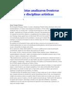 Especialistas Analizaron Fronteras Entre Disciplinas Artísticas