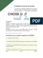 manual de uso de CHKDSK