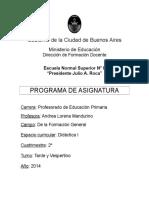 CFG Didáctica I Mandurino 2014 2cuat