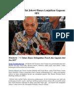 Demokrat Menilai Jokowi Hanya Lanjutkan Gagasan SBY