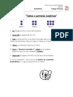 Ficha 2 Tablas y Patrones Numéricos