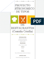 Proyecto Gastronomico ppt