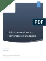 Stiluri de Conducere Si Comunicare Manag