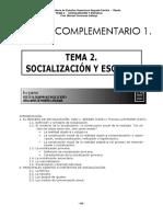 SOCIALIZACIÓN Y ESCUELA