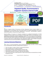 40.Effective Quality Environmental Safety Mgmt Systems Internal Audit Course Outline