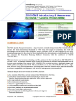 36.ISO DIS9001 2015 QMS Course Outline