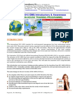 37.ISO14001 2015 EMS Course Outline