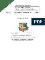 Decreto Reglamento n 1 en Materia de Retenciones Del Impuesto Municipal Sobre Actividades Economicas1