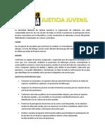 La Secretaría Nacional de Justicia Juvenil