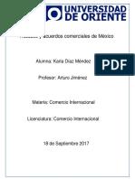 acuerdos y tratados internacionales de Mexico
