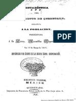 Poblacion Queretaro 1846