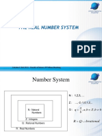 Bab 1 the Real Number System