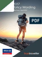 True Traveller Insurance Policy 2017_1
