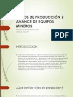 Ratios de produccion
