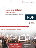 MahindraSatyam Foundation - Overview
