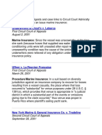 Marine Insurance Cases