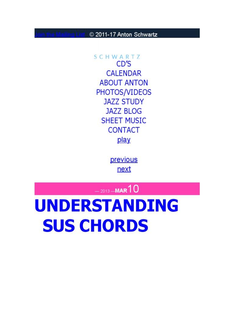 Understandingsuschords Antonschwartzc Chord Music Harmony
