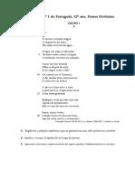 Fernando Pessoa Ortonimo Poemas