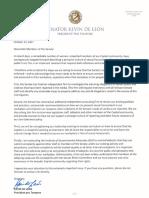 10-23-17 Pro Tem Letter to Senators
