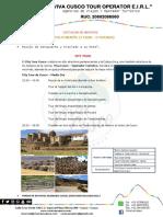 Cotizacion de Servicios Cusco de Ensueño 7D I 6N