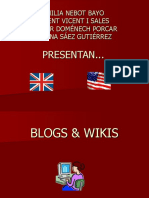 Presentacion Blogs i Wikis Grupo Vicent