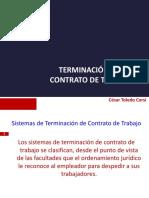Terminación Contrato Trabajo UDP