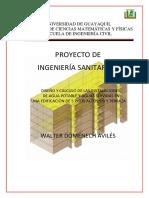 Diseño y Calculo de Las Instalaciones de Agua Potable y Agua Servidas en Una Edificacion de 5 Pisos Altos, Pb y Terraza