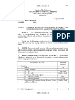 DND Department Circular Nr 03-A Dated 14 September 2000 Codified Approving and Signing Authority on Military Personnel Administration Matters