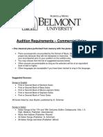 Commercial Voice Requirements (Belmont)