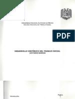 Desarrollo Historico de Trabajo Social, Unam,Sua, 2003
