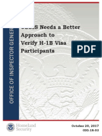 Homeland OIG Visa Report