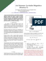Informe LEVITADOR MAGNETICO SISTEMAS DINAMICOS