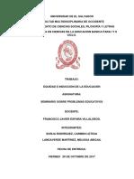 Equidad e Induccion en La Educacion