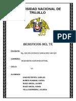 EL TÉ - Informe