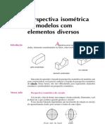 Perspectiva Isométrica de Modelos Com Elementos Diversos