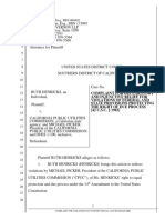 COMPLAINT - CPUC - Fed Constitional Case Re SDGE Fires