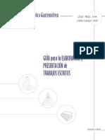 Guía Para La Elaboración y Presentación de Trabajos Escritos. Guatemala, Seminario Bíblico Guatemalteco