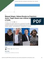 Print Manuel Alegre, Helena Roseta Ou Francisco Assis