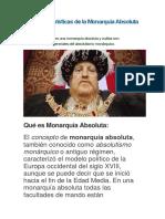10 Características de La Monarquía Absoluta