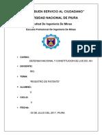 Regitro de Patente