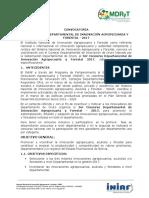 3er Concurso Departamental de Innovación Agropecuaria y Forestal - 2017