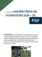 Preparación Física en Futbolistas Sub – 20