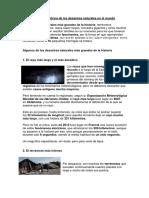 Reseña Histórica de Los Desastres Naturales en El Mundo