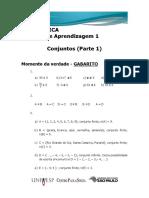 UA 01 Matemática - M.v. - Gabarito 2015 2